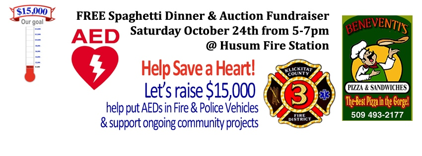 2015 KCFD3 Free Spaghetti Dinner & Auction Fundraiser